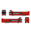 realistic travel bus vector image vector image