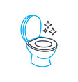 sanitary ware cleaning linear icon concept vector image