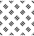 Seamless pattern background of triple lines vector image vector image