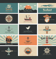 set business cards for seafood shop and vector image