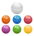 set glossy colored balls vector image