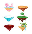 set of game islands vector image vector image