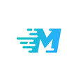 speed letter m logo icon design vector image