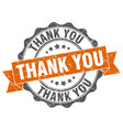thank you stamp sign seal vector image vector image