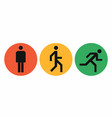 three states icons of the human body position vector image vector image