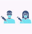 vaccination adult glyph icon on white background vector image vector image