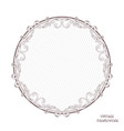 vintage antique decorative frame of round shape vector image
