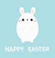 white bunny rabbit painting egg shape happy vector image vector image