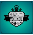 Workout background vector image vector image