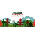 year retro folk pine tree card vector image vector image