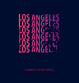 los angeles summer graphic with palms t-shirt vector image
