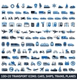 100 AND 20 Transport blue icons vector image vector image