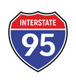 95 route sign icon road 95 highway vector image vector image