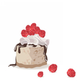 A piece of delicious cake vector image vector image