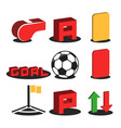 a set 3d football isometric icons for online vector image vector image