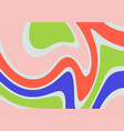 abstract wavy flow background colorful geometric vector image vector image