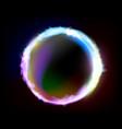 background circle burning plasma vector image vector image