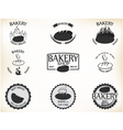 Bakery labels and badges with retro vintage style vector image