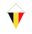 belgian triangle flag hanging vector image