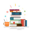 books knowledge learning and education vector image