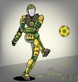 Brazilian Football Robot vector image vector image