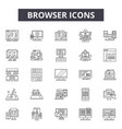 browser line icons signs set outline vector image vector image