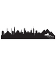 Cairo Egypt skyline Detailed silhouette vector image