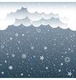 cartoon clouds snow vector image vector image