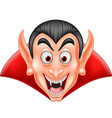 cartoon vampire head isolated on white background vector image vector image
