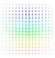 chemistry shape halftone spectrum effect vector image