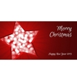 Christmas star card vector image vector image