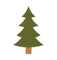 christmas tree with trunk colorful silhouette on vector image vector image