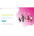 corporate party meeting business employees vector image vector image