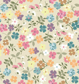 Cute vintage ditsy background vector | Price: 1 Credit (USD $1)