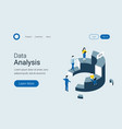 data analysis statistics isometric concept vector image vector image