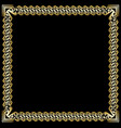 decorative luxurious golden frame on black vector image vector image