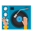 disc jockey design vector image vector image