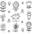 Doodle of hand draw spring vector image vector image