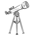 drawing a telescope on white background vector image vector image