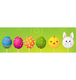 Easter Header vector image