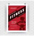 fitness center flyer modern typographic layout vector image vector image