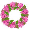 flower wreath vector image vector image