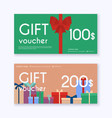 gift card and promotion strategy gift voucher vector image vector image