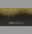 golden glitter texture sparkling snow dust vector image vector image