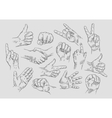 Hand collection - line vector image vector image