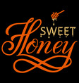 hand drawn lettering sweet honey vector image