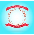 Happy Valentines day background with round frame vector image