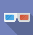 Icon of 3D Cinema Glasses Flat style vector image