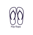 icon of flip flops on a white background vector image