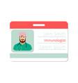 immunologist medical specialist badge vector image